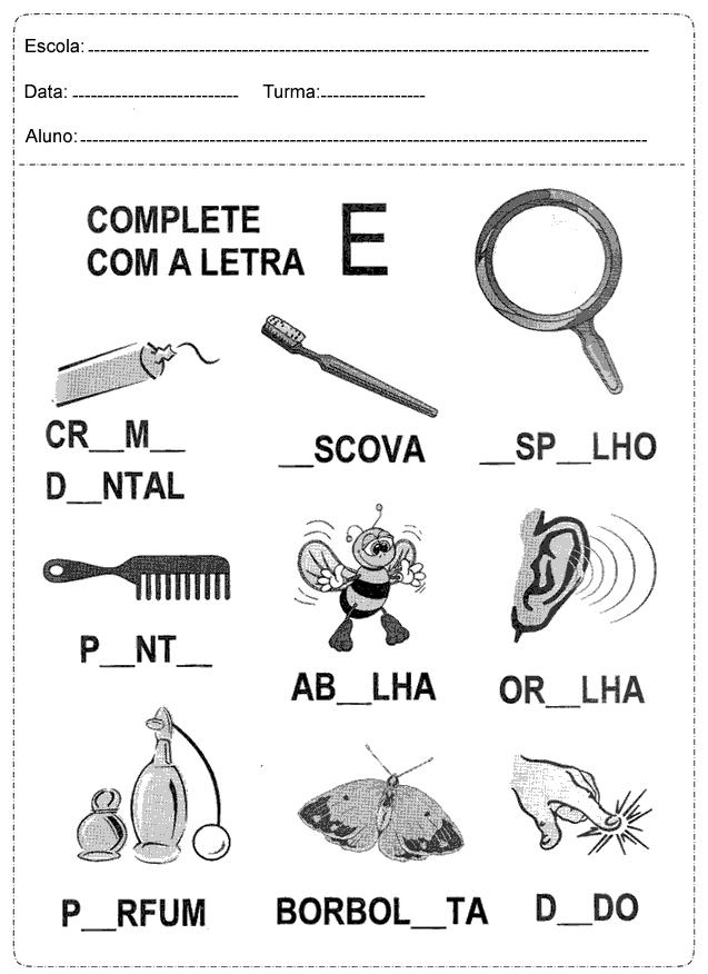 Atividades De Portugues 1 Ano Fundamental Para Imprimir So Escola