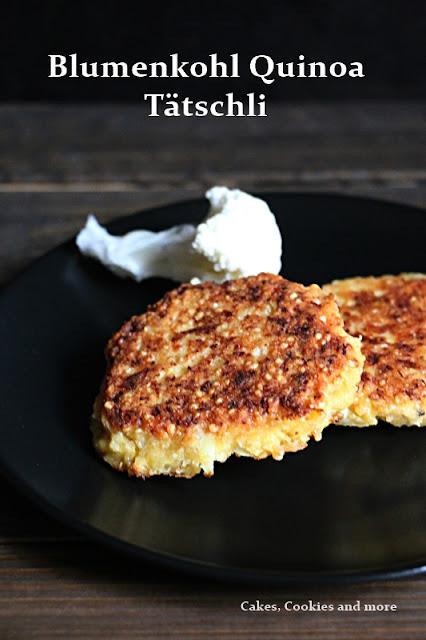 Rezept Blumenkohl Quinoa Tätschli