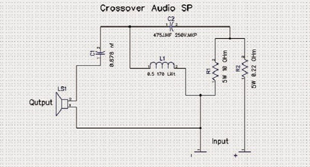 Membuat Crossover HIGH Speaker Sederhana 1 Way Dengan 5 Komponen