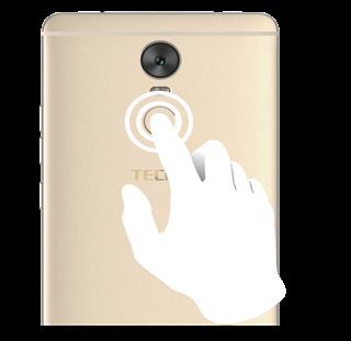 The Fingerprint sensor and the eye scanner on the Tecno Phantom plus