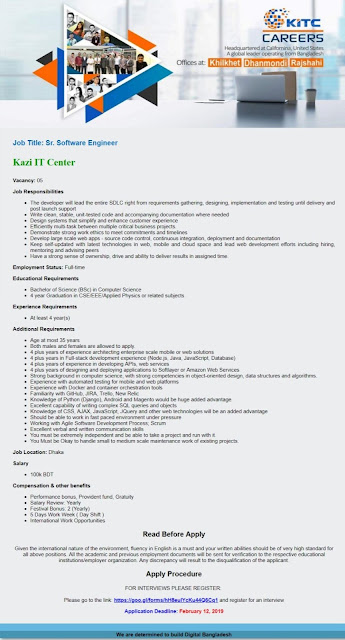 Kazi IT Center Ltd Job Circular 2019