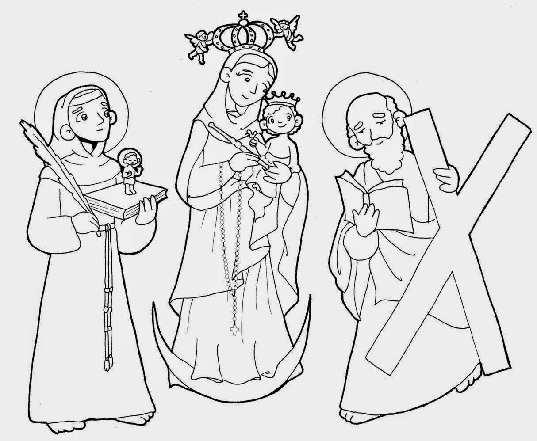 Dibujo De La Virgen Maria Para Colorear Dibujos Para Colorear