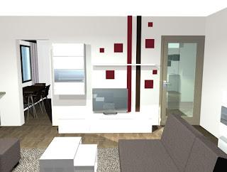 Stanovanje v Šentjur-ju - idejna zasnova za dnevno sobo.