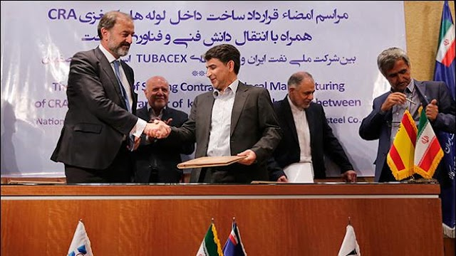 National Iranian Oil Company (NIOC) signs first major post-election oil deal with a Spanish-Iranian consortium