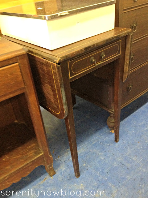 Thrift Store Shopping Inspiration (Drop Leaf End Table), via Serenity Now