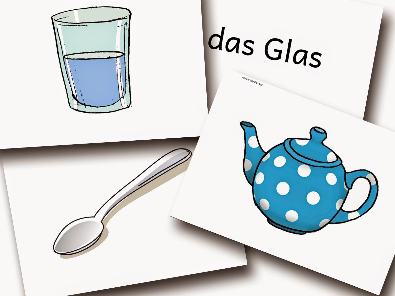 Bildkarten ´Geschirr & Besteck´ - DaZ Material für die Sprachförderung in der Grundschule