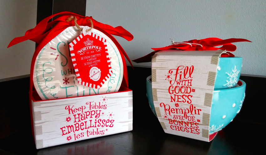 Hallmark Holiday Gifting - Northpole coasters and nesting bowls