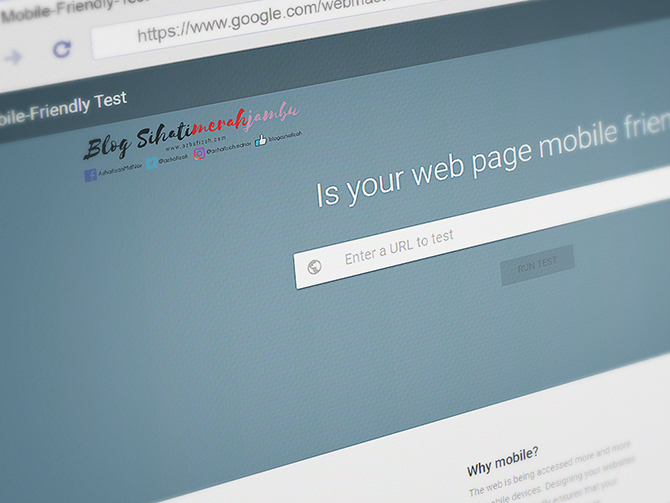 Cara Check Blog Mobile Friendly