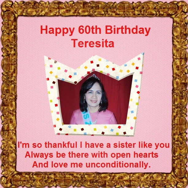 Happy 60th Birthday Sister Teresita