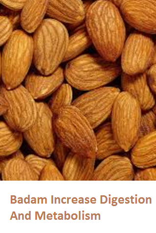 Health Benefits of Almond or Badam Increase Digestion And Metabolism