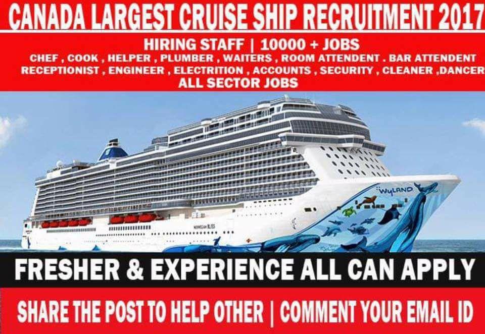 Canada Cruise Ship Jobs Vacancies 2017