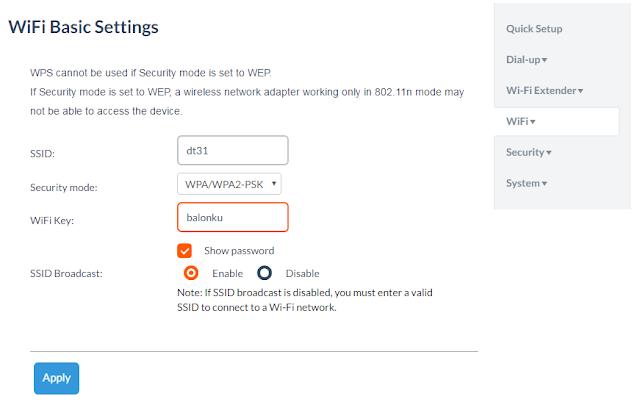 Cara Mengganti Password dan Nama Wifi Modem Bolt