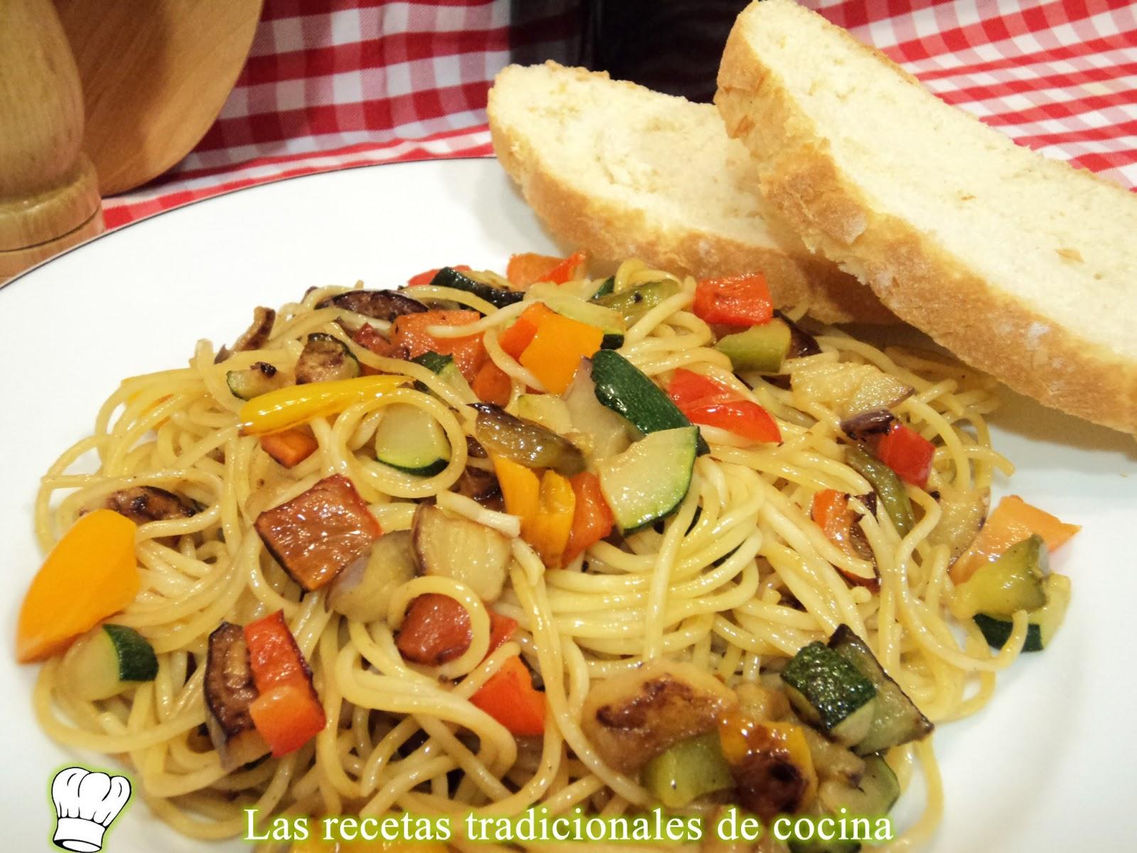 Receta De Espaguetis Con Verduras Recetas De Cocina Con Sabor Tradicional