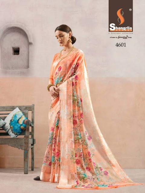 Shangrila Kanchana vol 14 Saree | Cotton Linen | Summer wear