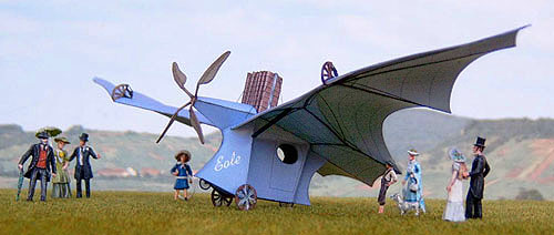 Lompatan pertama pesawat Clément Ader