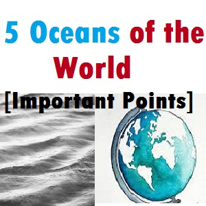 5 Oceans of the World