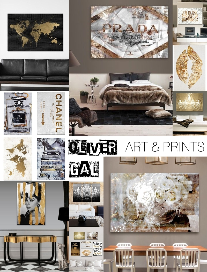Best of Oliver Gal modern art pieces and glamour prints for modern home decoration