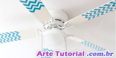 Pintar e decorar um ventilador de teto de maneira super fácil