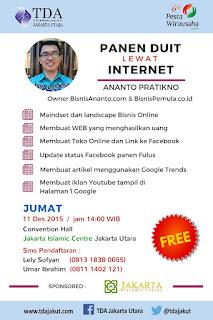 Panen DUIT lewat Internet TDA Jakarta