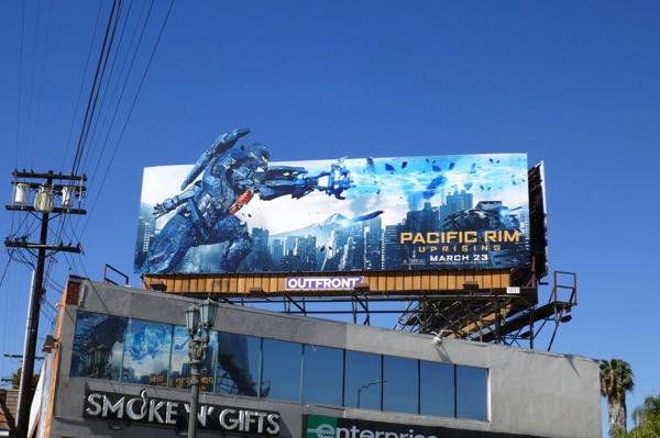 Pacific Rim Uprising movie billboard