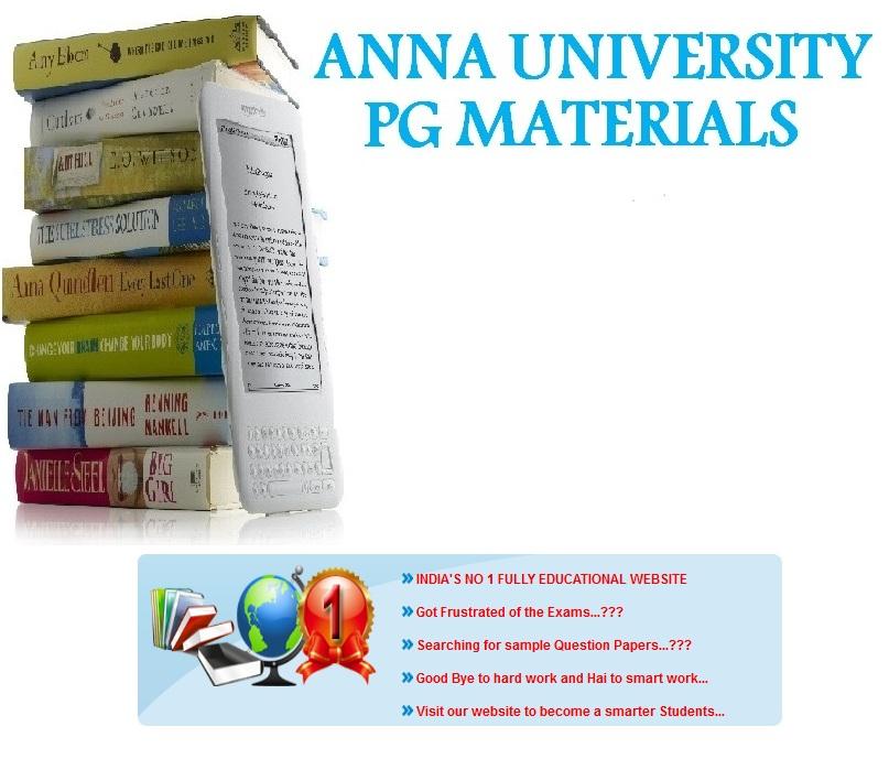 ANNA UNIVERSITY PG MATERIALS: E BOOKS