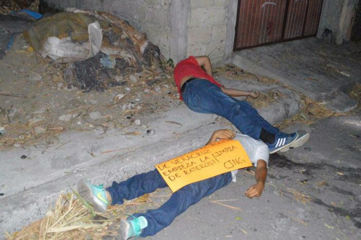 """CJNG anuncia """"limpia"""" en Veracruz y se atribuye cinco ejecuciones"""