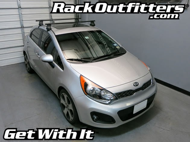 New Kia Rio 5 Door Thule Traverse Square Bar Roof Rack 12