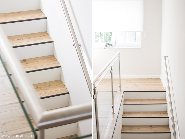 wir renovieren den flur im og vorher nachher teil 3 edelstahl treppengel nder mit glas. Black Bedroom Furniture Sets. Home Design Ideas