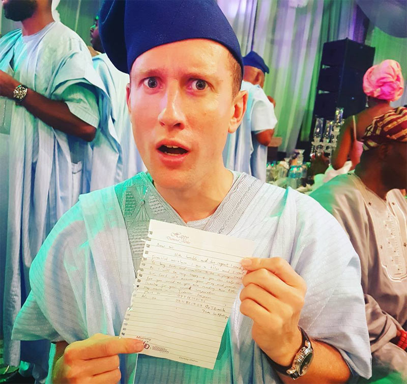 Recession: Oyibo man in shock as strange lady demands money from him at wedding