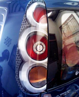 Sticker vinyl lampu depan dan belakang Hyundai atoz
