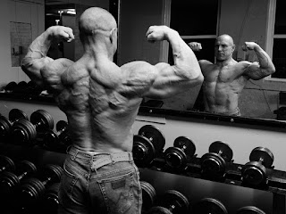 Photographer Jason Harry with John Hodgson bodybuilder