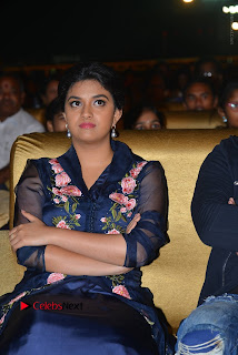 Actress Keerthi Suresh Stills in Blue Long Dress at Nenu Local Audio Launch  0033.JPG