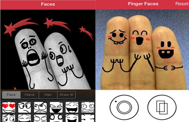 ارسم على اصابعك وجوه تعبيرية مميزة مع هذا التطبيق
