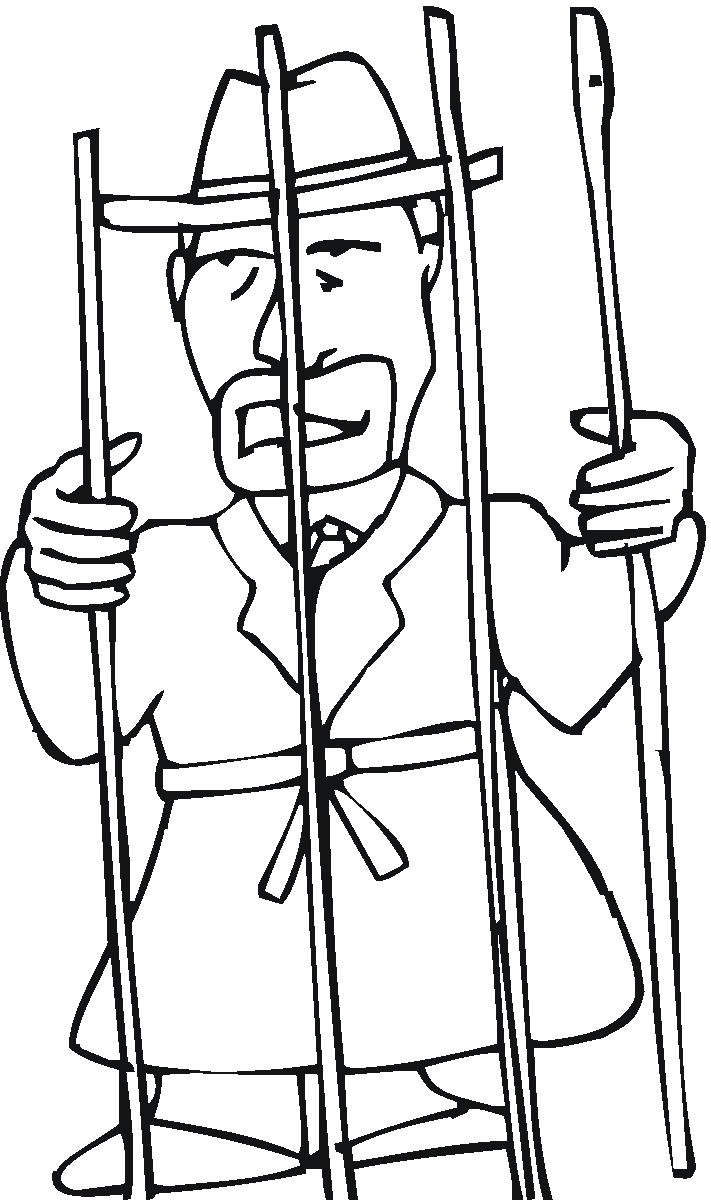 Free coloring pages of john peter jail