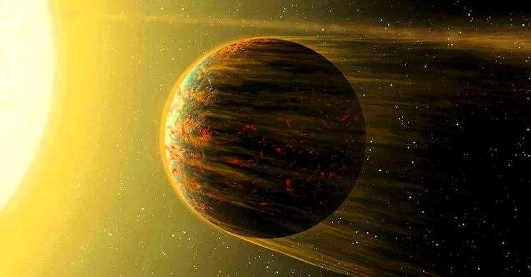55 Cancri E devasa bir lav okyanusuna sahiptir, bu okyanus gezegenin yarısını kaplar.