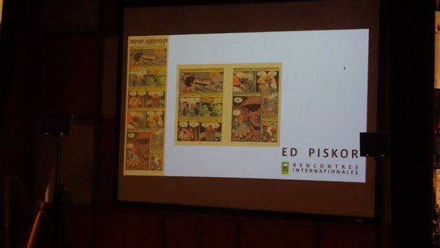 rencontre Piskor Au festival d'Angoulême, présentation de pages