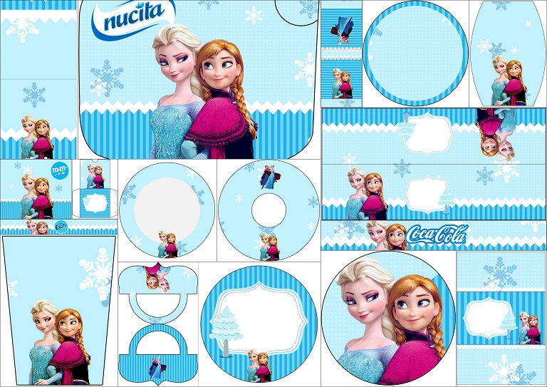photo regarding Frozen Printable Labels named Frozen Xmas inside of Blue: Absolutely free Printable Sweet Bar Labels