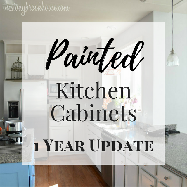Painted Kitchen Cabinets - 1 year update