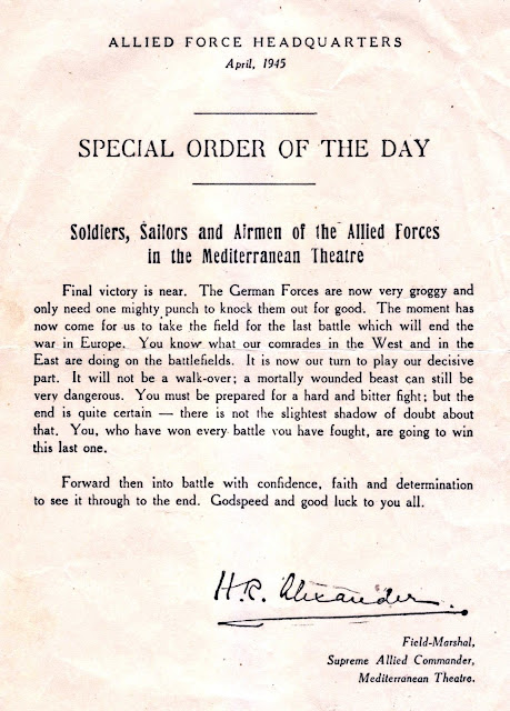 Allied Forces April 1945 - Special Order Of The Day