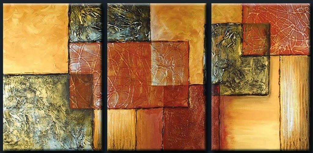 Cuadros modernos pinturas y dibujos cuadros tr pticos for Imagenes de cuadros abstractos faciles de hacer