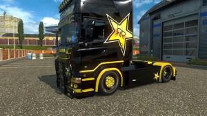 Scania RJL Rockstar Energy skin mod by Raven Design