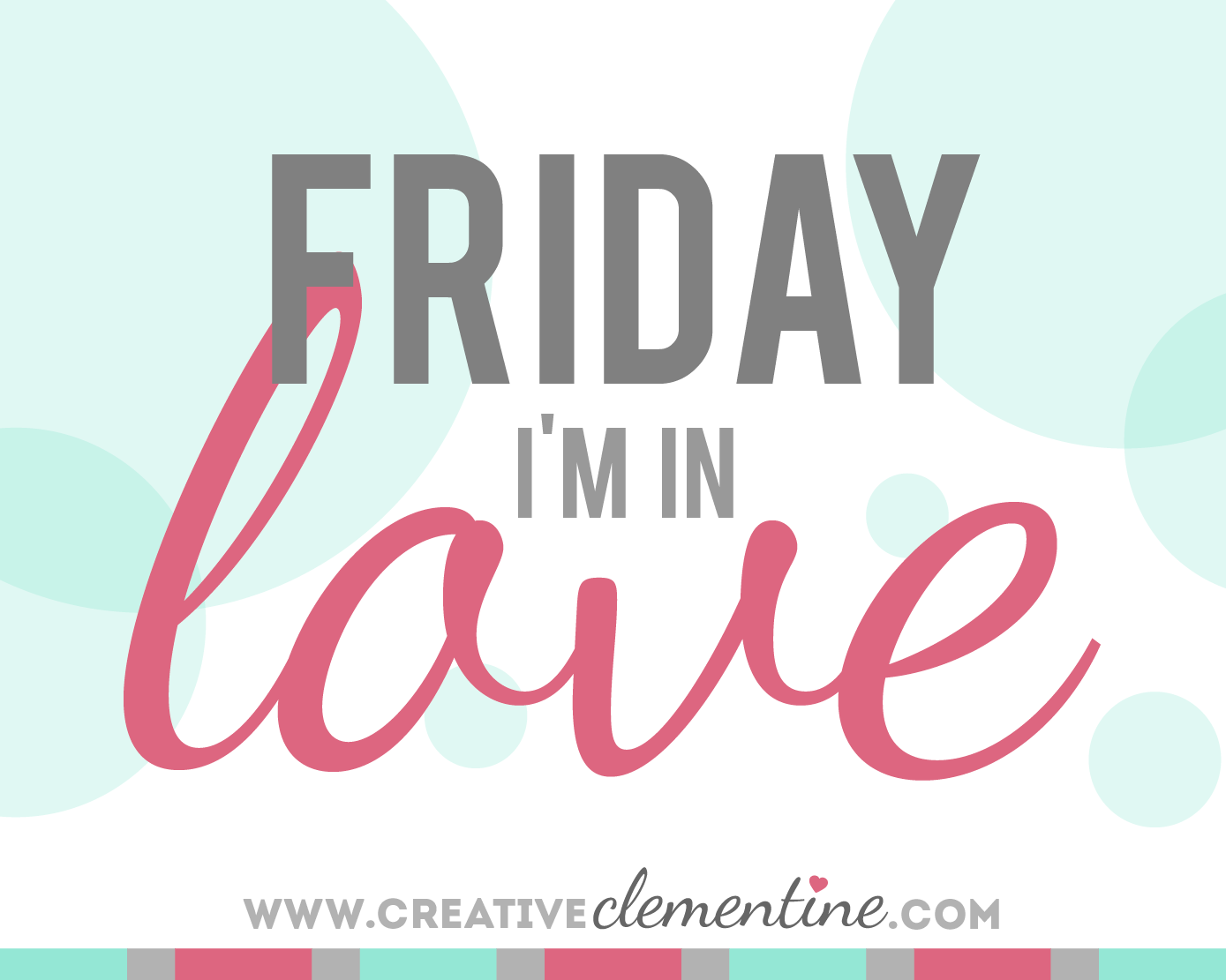 """Friday I'm in Love"" on www.creativeclementine.com: Friday features of shops, makers, and creative people worth checking out."