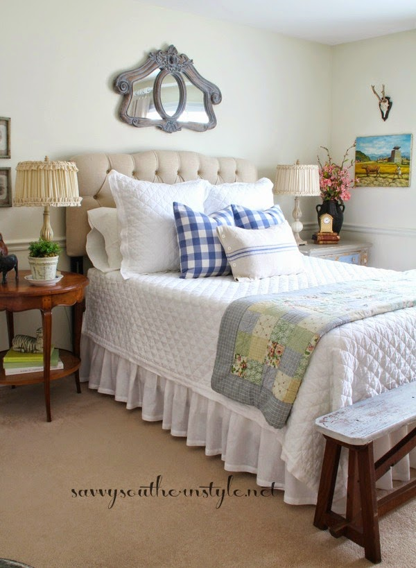 Savvy southern style spring in the french style guestroom for Southern style bedroom