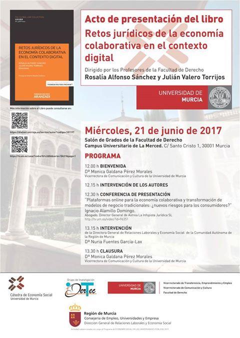 """Presentación del libro: """"Retos jurídicos de la economía colaborativa en el contexto digital""""."""