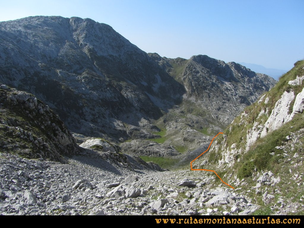 Ruta Ercina, Verdilluenga, Punta Gregoriana, Cabrones: Jous del Resecu