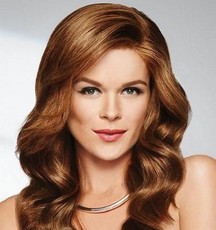 model rambut layer panjang untuk wajah bulat