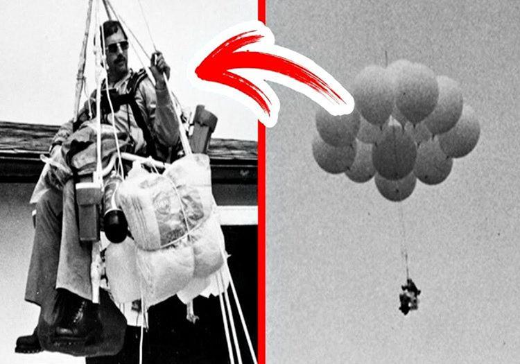 45 balonla 90 dakika boyunca gökyüzünde uçan adam Larry Walters tarihe geçti.