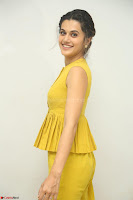 Taapsee Pannu looks mesmerizing in Yellow for her Telugu Movie Anando hma motion poster launch ~  Exclusive 061.JPG