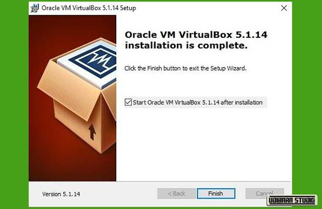 INSTALASI VIRTUAL BOX: Window Selesai Install Virtual Box