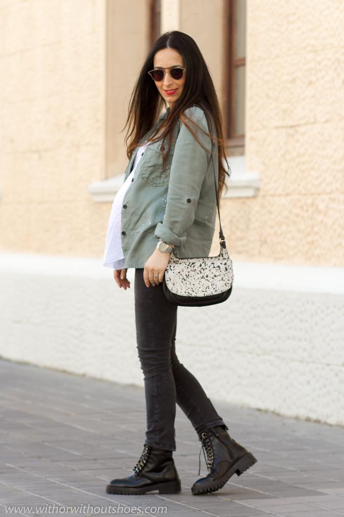 Blogger influencer de Valencia con Ideas para vestir mujer embarazada con ropa de zara